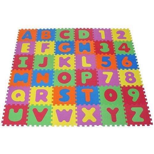 Knorrtoys® Puzzle »Alphabet und Zahlen«, 36 Puzzleteile, Puzzlematte, Bodenpuzzle, bunt