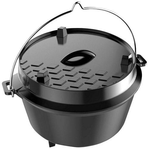 Tepro Grilltopf »Dutch Oven L«, Gusseisen, 12 Liter, schwarz