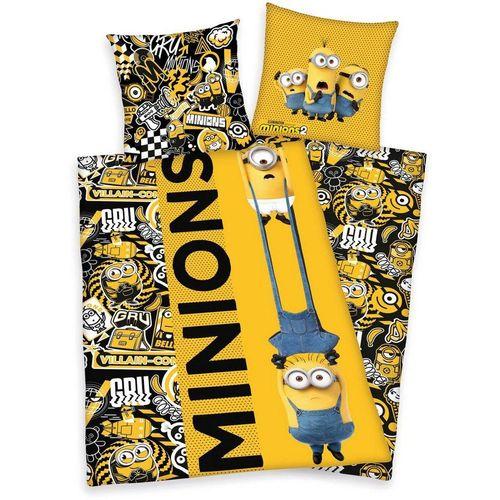Kinderbettwäsche »Minions2«, Minions, mit tollem Minions2-Motiv, gelb