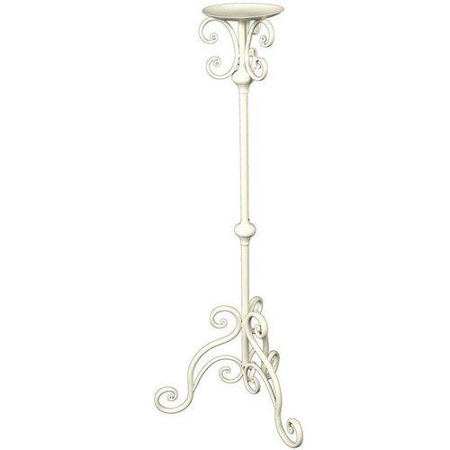 Ambiente Haus Wandkerzenhalter »Kerzenständer - antikweis 80cm« (1 Stück), weiß