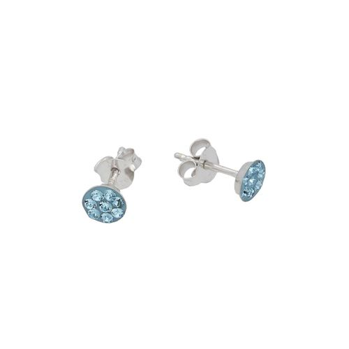 Vivance Paar Ohrstecker »Blaue Kristalle«