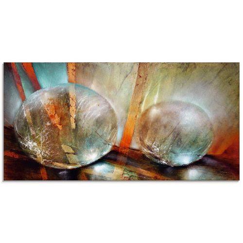 Artland Glasbild »Lichtfänger«, Gegenstandslos (1 Stück), beige