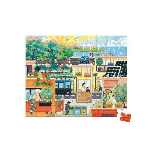 Janod Puzzle »Janod-WWF® Puzzle Green City 100 Teile«, 100 Puzzleteile