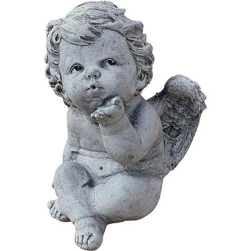Stone and Style Engelfigur »Steinfigur Engelchen mit Kussmund frostfest massiv«