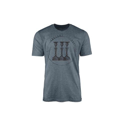 Sinus Art T-Shirt »Vintage Herren T-Shirt Kerzenständer