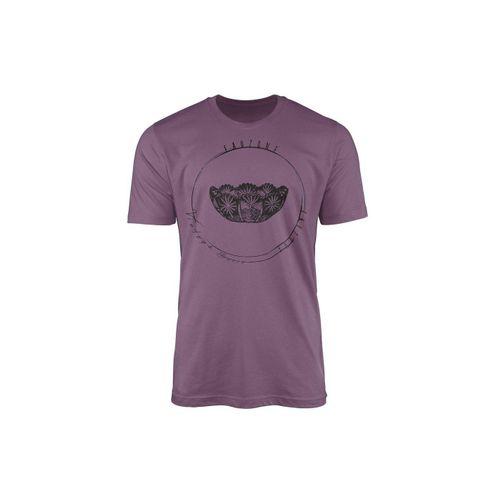 Sinus Art T-Shirt »Vintage Herren T-Shirt Kristallschale«, lila