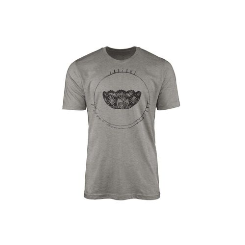 Sinus Art T-Shirt »Vintage Herren T-Shirt Kristallschale«, grau