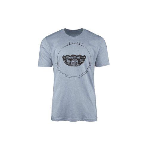 Sinus Art T-Shirt »Vintage Herren T-Shirt Kristallschale«, blau
