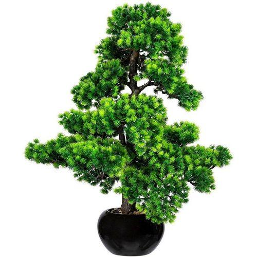 Kunstbonsai »Bonsai Lärche« Bonsai Lärche, Creativ green, Höhe 70 cm, im Keramiktopf, grün