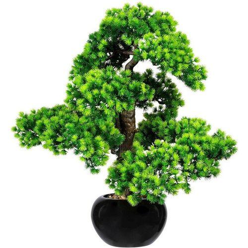 Kunstbonsai »Bonsai Lärche« Bonsai Lärche, Creativ green, Höhe 60 cm, im Keramiktopf, grün
