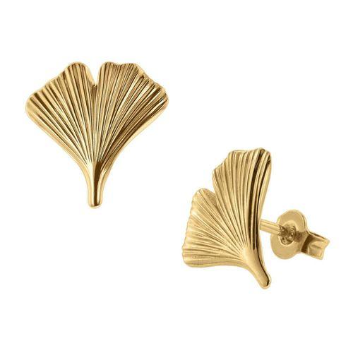trendor Paar Ohrstecker »e Ginkgo-Blatt 333 Gold