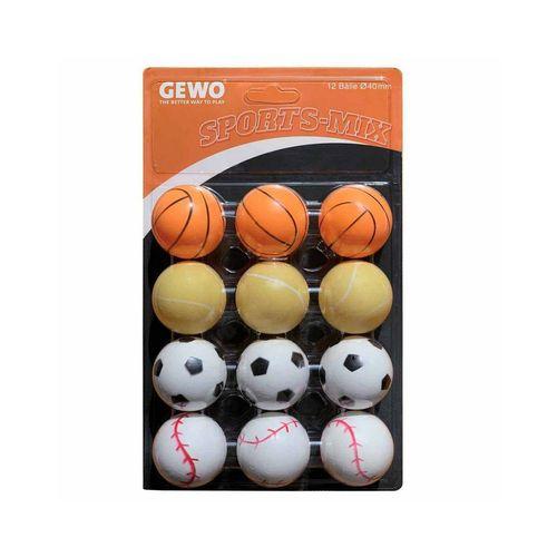 Gewo Tischtennisball »GEWO Ball Sports-Mix 12er bunt«