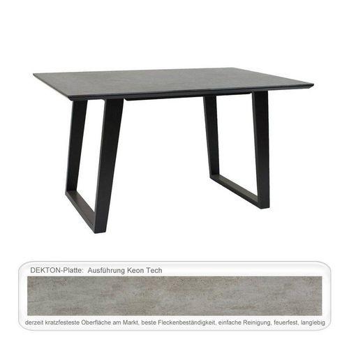 expendio Esstisch »Edin«, kratzfestes Dekton Keon Tech 160x90 cm aus Massivholz mit Kufen