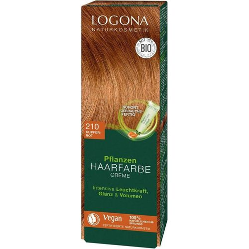LOGONA Haarfarbe »Logona Pflanzen-Haarfarbe Creme«, rot
