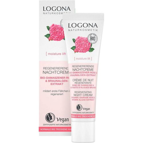 LOGONA Nachtcreme »Logona moisture lift«, weiß