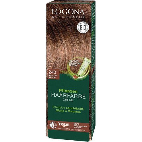 LOGONA Haarfarbe »Logona Pflanzen-Haarfarbe Creme«, braun