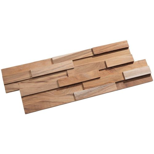 Rebel of Styles Verblender »UltraWood Teak Firenze FSC 100%«, BxL: 18x49,5 cm, 0,09 qm, (1-tlg) in Holzoptik, beige