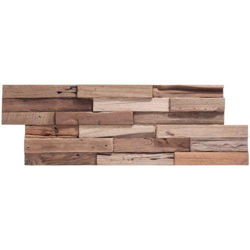 Rebel of Styles Verblender »UltraWood Teak Colorado FSC Recycled 100% FSC«, BxL: 18x49,5 cm, 0,09 qm, (1-tlg) in Holzoptik, beige