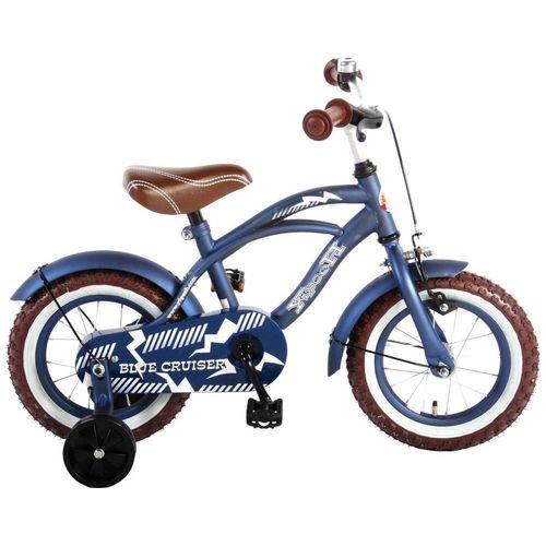 Volare Kinderfahrrad »Volare Cruiser • Retro Design • Kinderfahrrad - Jungen - 12 Zoll • Alter: 3 - 4,5 Jahre«, 0 Gang, blau