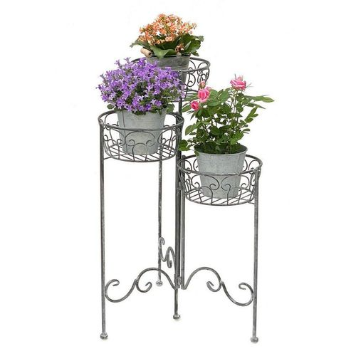 DanDiBo Blumenständer »Blumentreppe Metall Rund 75 cm Blumenständer mit 3 Körbe 96012 Blumenständer Blumensäule Pflanzenständer«