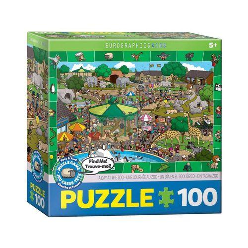 EUROGRAPHICS Puzzle »Ein Tag im Zoo 100 Teile Puzzle«, Puzzleteile, bunt