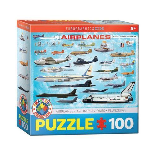 EUROGRAPHICS Puzzle »Eurographics 6100-0086 Flugzeuge 100 Teile Puzzle«, Puzzleteile, bunt