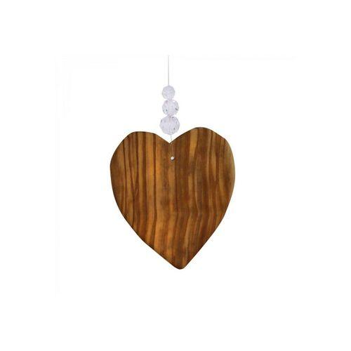 mitienda Fensterdekoration »Fensterdeko Herz mit 3 Bleikristallen«