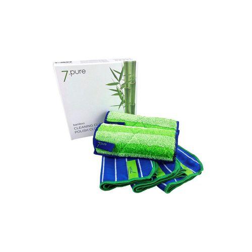 7pure Küchenhelfer-Set »Bambus Putzlappen & Poliertuch SET