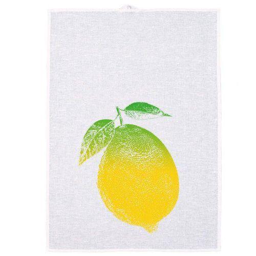 Frohstoff Geschirrtuch Zitrone Irisdruck