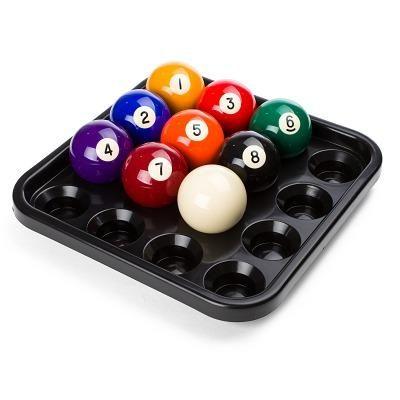 Balltablett für 16 Pool-Kugeln, Schwarz