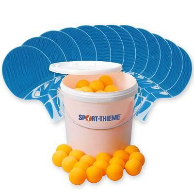 "Cornilleau Tischtennisschläger-Set ""Tacteo 30 Outdoor"", Bälle Orange"