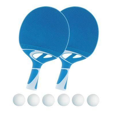 """Cornilleau Tischtennisschläger-Set """"Tacteo 30"""", Bälle Weiß"""