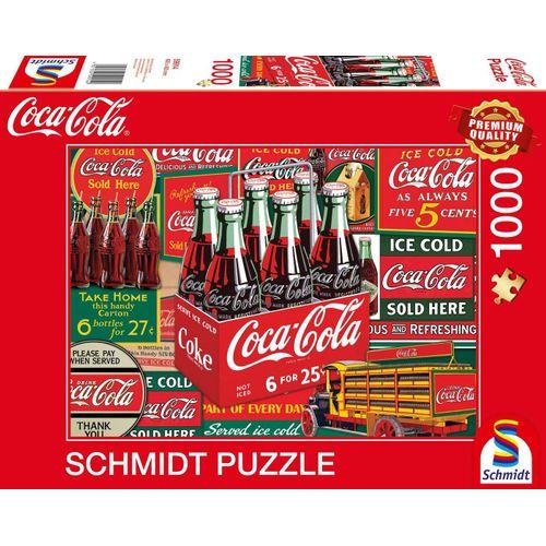 Schmidt Spiele Puzzle »Klassiker, Puzzle Coca Cola«, 1000 Puzzleteile, Made in Europe, bunt