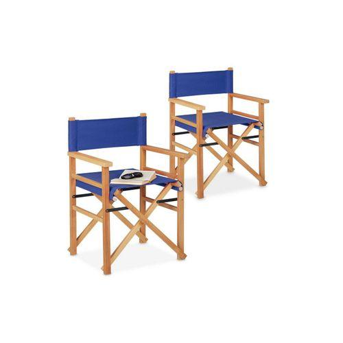 relaxdays Regiestuhl »Blauer Regiestuhl im 2er Set