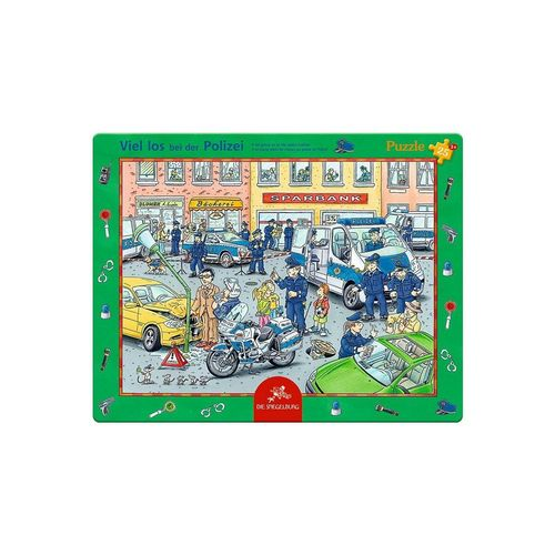 Spiegelburg Puzzle »Rahmenpuzzle Viel los bei der Polizei (25 Teile)