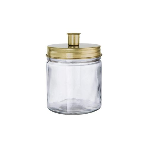 BUTLERS Kerzenhalter »CANDLE JAR Glas mit Kerzenhalter Höhe 15cm«