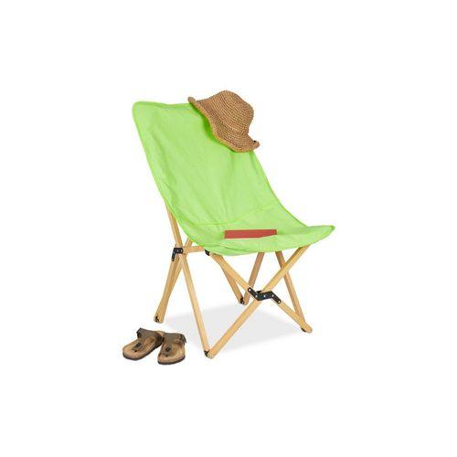 relaxdays Klappstuhl »Holz Liegestuhl klappbar grün