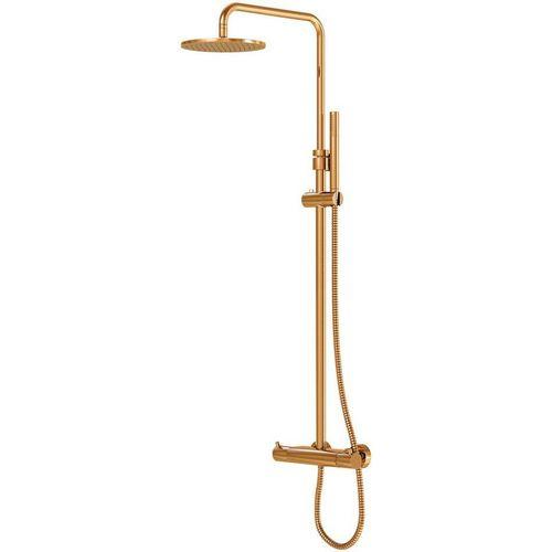 Steinberg Duschsystem »100«, Höhe 146 cm, für Durchlauferhitzer ab 21 kwh geeignet, rosé gold, goldfarben