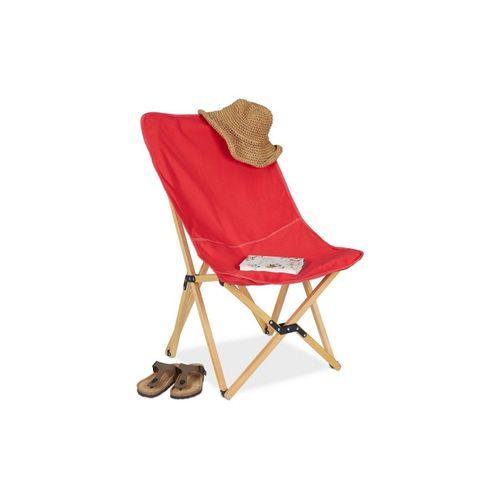 relaxdays Klappstuhl »Holz Liegestuhl klappbar rot