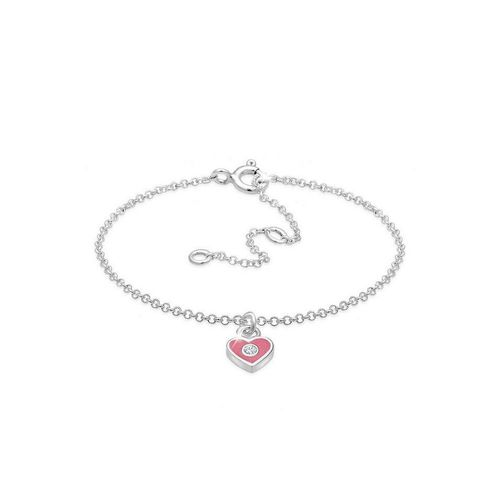 Elli Armband »Kinder Herz Bunt Kristalle 925 Silber