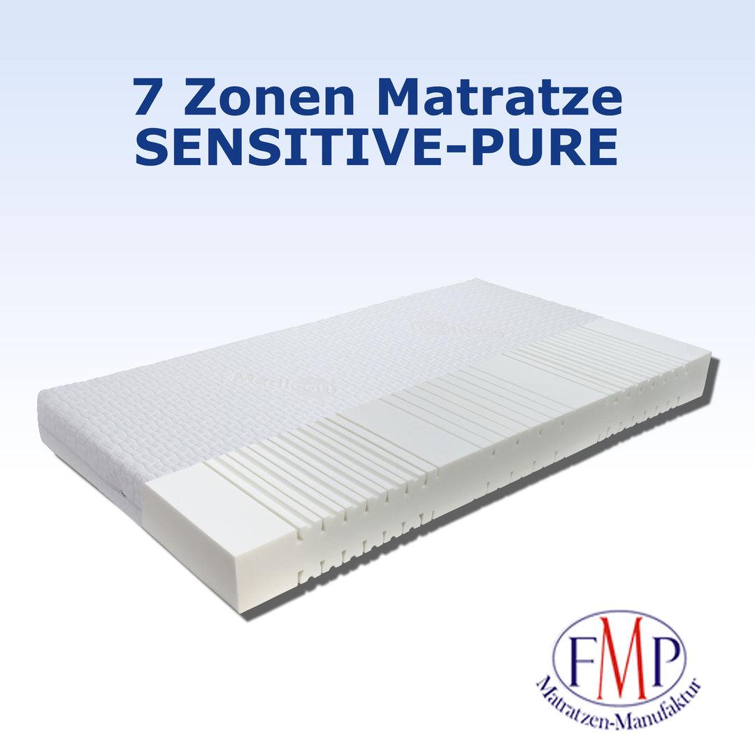 orthopädische 7 Zonen Kaltschaummatratze Sensitive Pure 80x200