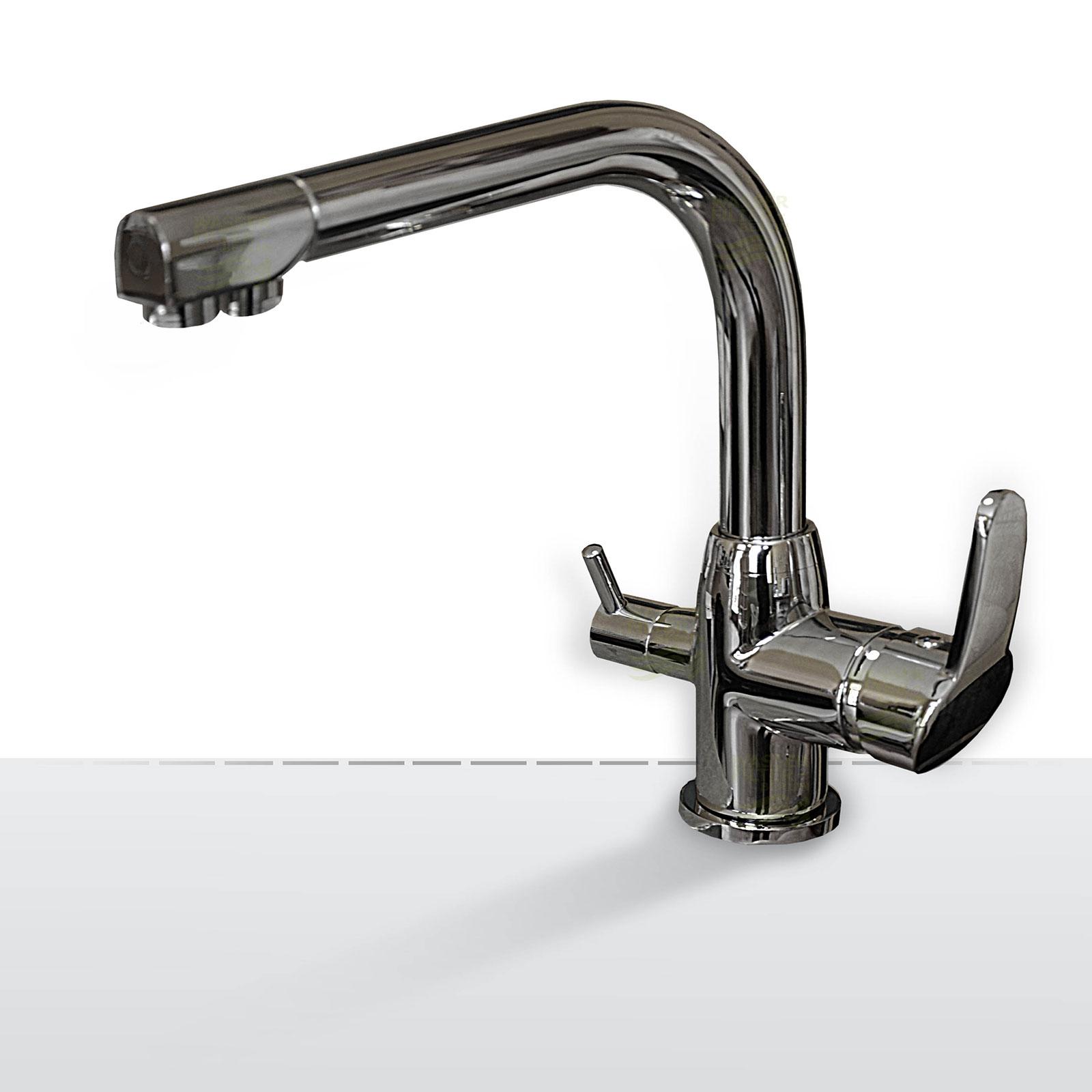 Design-Drei-Wege-Wasserhahn Falvero, 3-Wege-Wasserhahn
