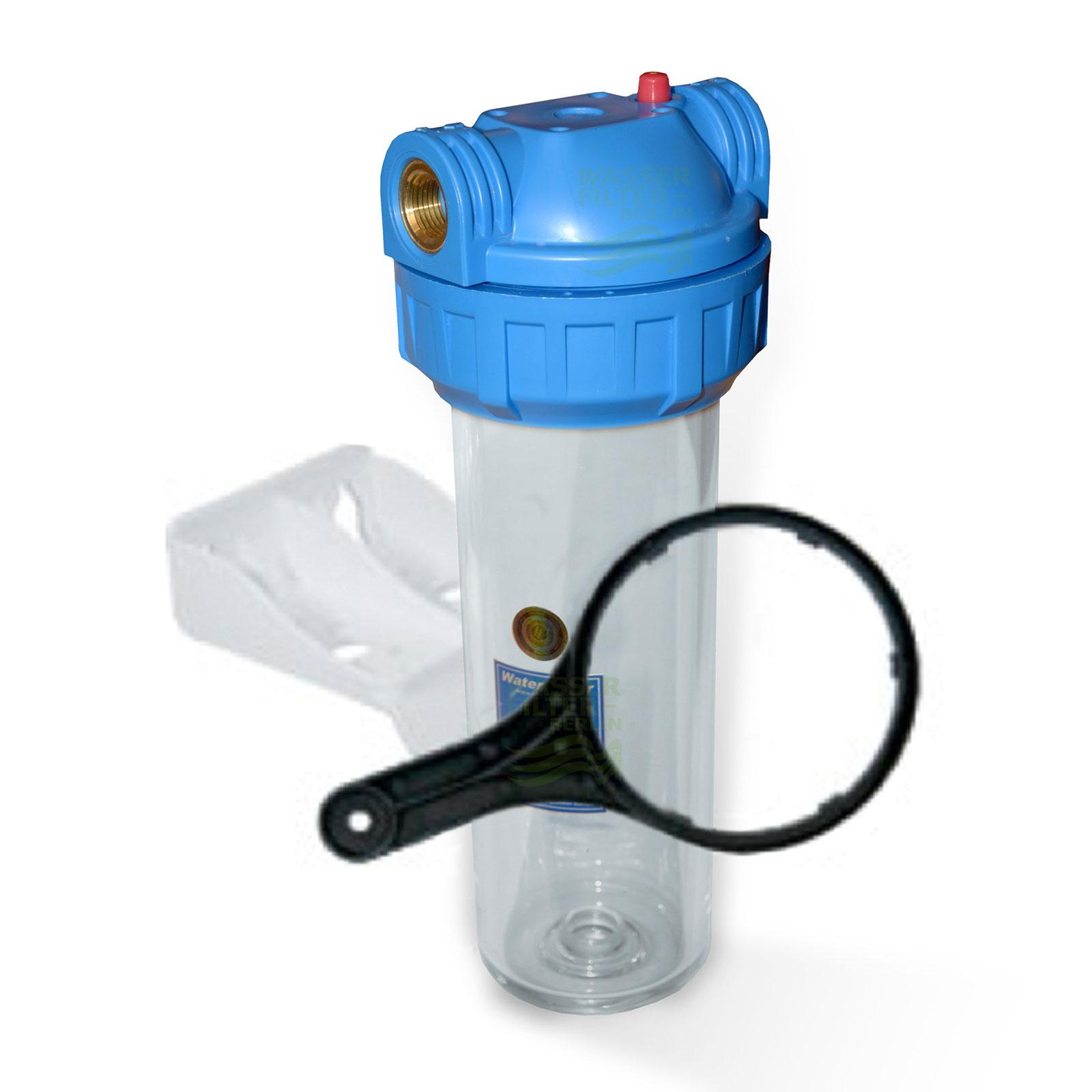 25,4cm/ 10 Zoll Wasserfiltergehäuse IG Messing 1/2