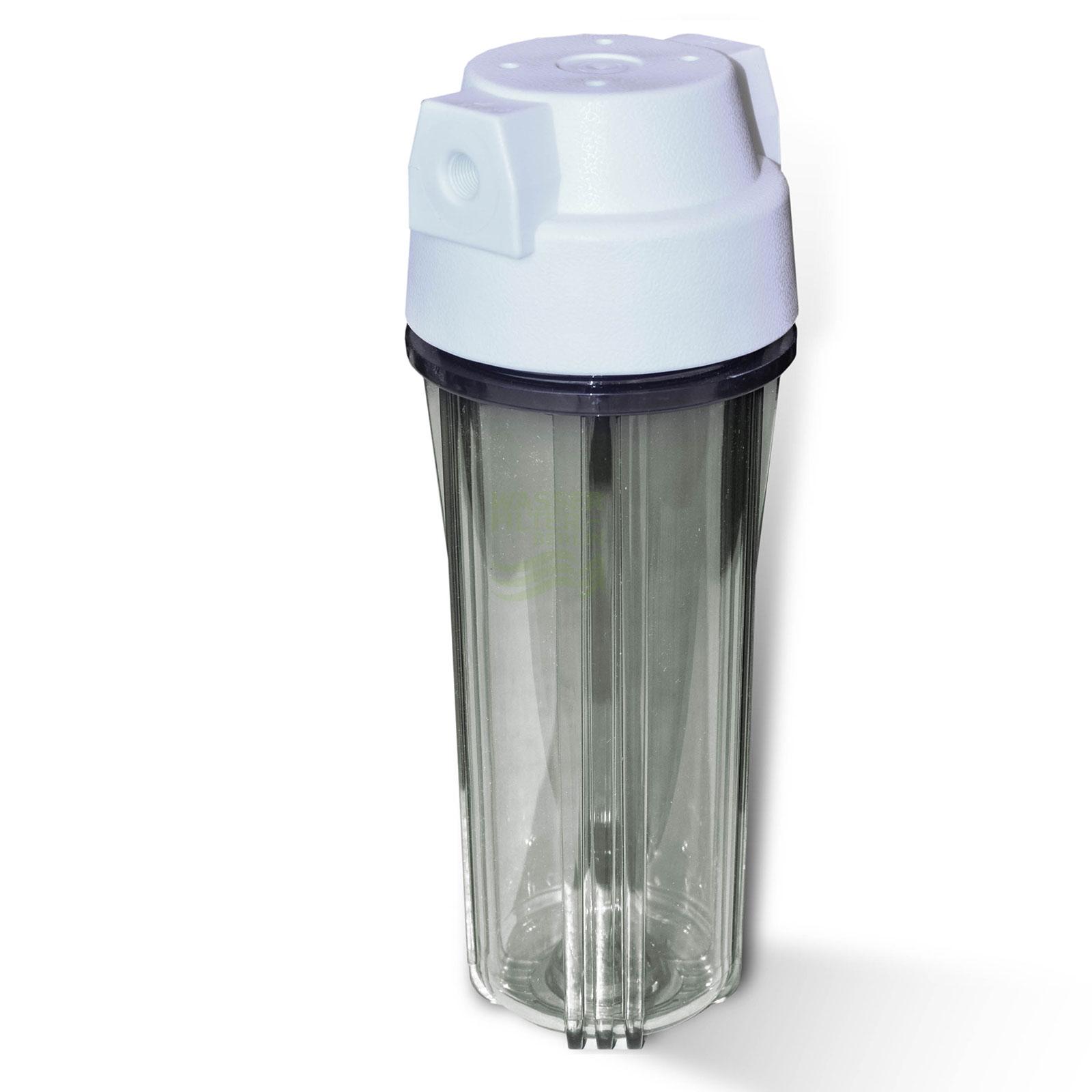 25,4cm (10 Zoll) Wasserfiltergehäuse, Umkehrosmose, weiss/klar