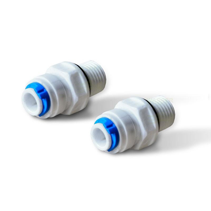 2 selbstdichtende Adapter Kühlschrankfilter AG1/4