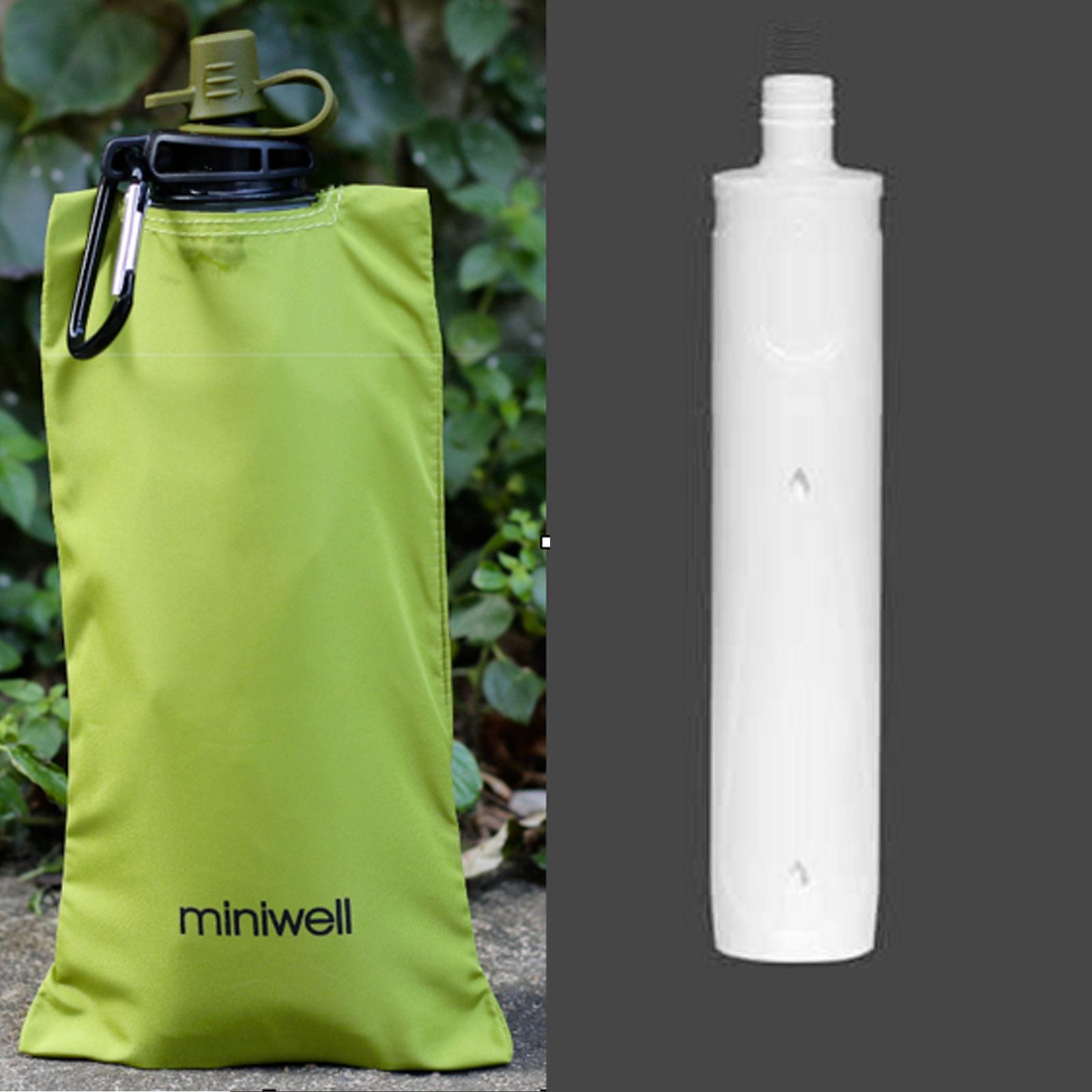 Miniwell L620 mobiler Wasserfilter + 2 faltbare Flaschen