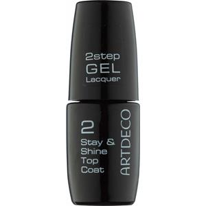 ARTDECO Nägel Nagellack 2 step Gel Lacquer Stay & Shine Top Coat 6 ml