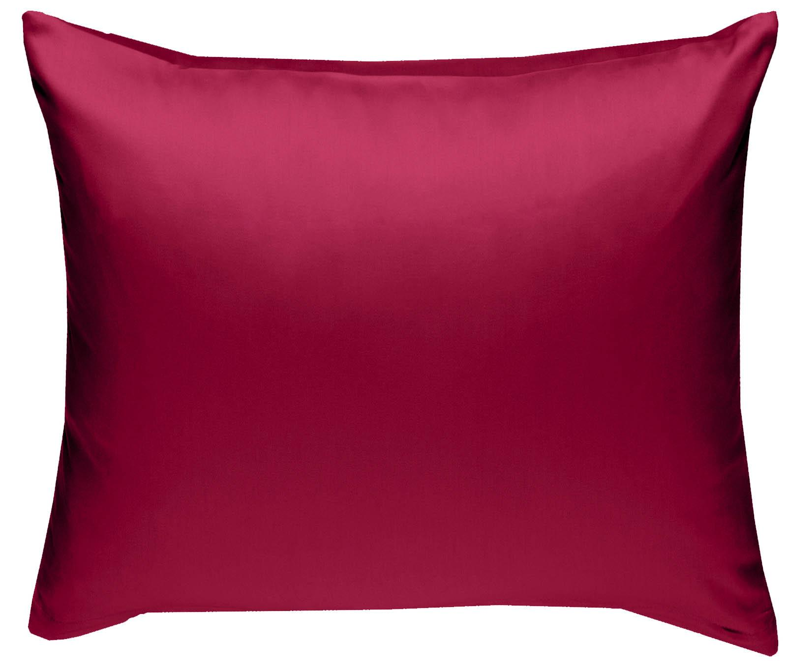 Mako Satin Kissenbezug uni pink 80x80 cm