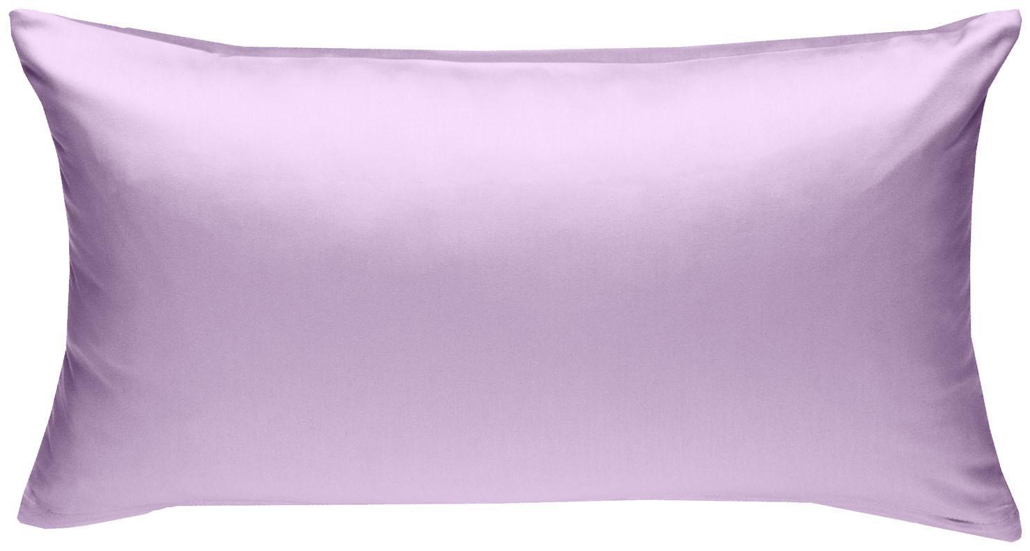 Mako Satin Kissenbezug uni flieder rosa 40x80 cm