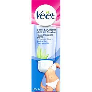 Veet Haarentfernung Cremes Enthaarungscreme Bikini & Achseln Sensitive Haut 100 ml